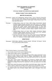 peraturan menteri dalam negeri no 22 tahun 2009 petunjuk teknis tata