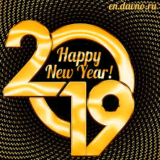 Happy New Year 2019 GIF animation Free Download Card 447 category