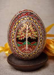 ukrainian easter egg painted ukrainian easter egg made of egg and coloured