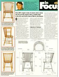 1546 arts and crafts reading chair plans furniture plans and