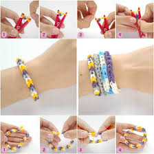 diy bracelet rubber bands images How to diy rubber band bracelet with a clothespin jpg
