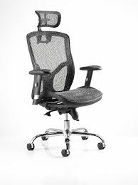 White Mesh Office Chair by Mirage Mesh Office Chair With Headrest