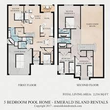 villa floor plans floor plan of emerald island orlando 5 bed villa lilo s magic