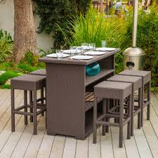 Patio High Dining Set - stylish outdoor dining sets for garden and patio founterior