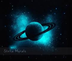 glow in the ceiling glow in the planet saturn outer space transparent ceiling