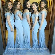 cheap light blue bridesmaid dresses new design elegant cheap cap sleeve white green patterns mermaid