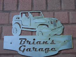 jeep cj wrangler address plaque home decor wall personalized