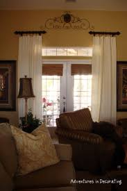 6389 best window glamour images on pinterest curtains window window treatments for french doors short rods are placed well above and to the outside