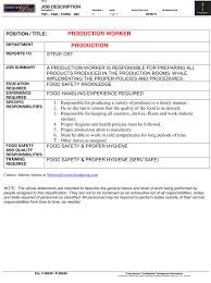 sample resume maintenance worker sample resume for production worker resume samples and resume help sample resume for production worker sample production clerk resume template doc12751650 production worker job description sample