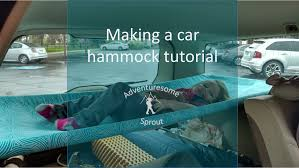 hammock bed tutorial hammock bed for car camping in a volvo wagon