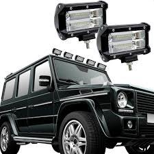 jeep mercedes white 5 inch 72w led work light car flood bar spot offroad fog lamp 4wd