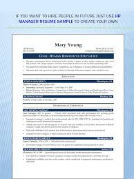 Steward Resume Sample by Resume Human Resources Manager Resume Image Result For Human
