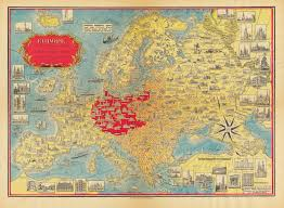 Europe 1939 Map by Europe A Pictorial Map Cornell University Library Digital