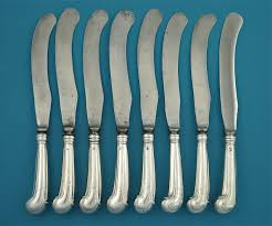 Thomas Kitchen Knives Set Of 8 George Ii Silver Pistol Handled Knives Thomas Swift