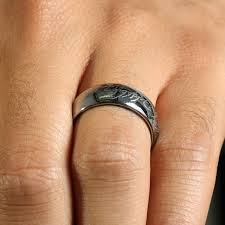 8mm ring silvertone tungsten carbide men s ring with elvish script