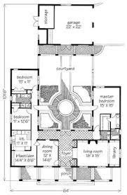 Courtyard House Floor Plans Very Narrow House Small Private Courtyard Floor Plan From