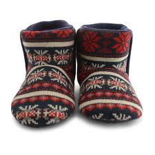 s knit boots size 12 mens dunlop faux fleece lined fairisle knitted ankle boots