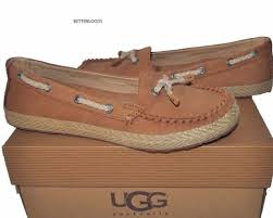 ugg s roni shoes black ugg australia chivon chestnut brown moccasin flat shoes size 6 ebay