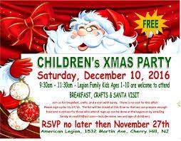 kids xmas party u2013 american legion cherry hill nj post 372