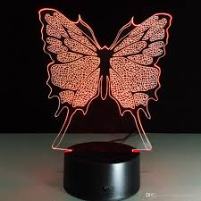 Butterfly Desk Accessories Dobe 3d Illusion Light Butterfly L Awesome For Birthday