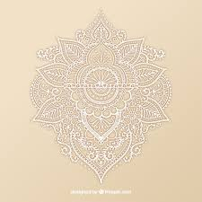 ornamental henna design vector free