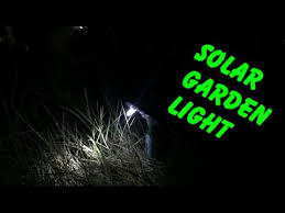 How To Make A Solar Light - how to make a solar garden light youtube