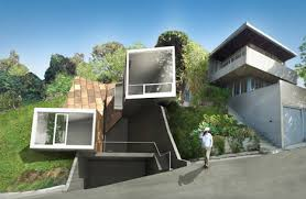 hillside home designs setbacks zoning shaped this sweet modern hillside home
