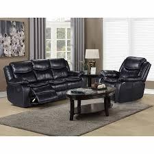 Black Fabric Reclining Sofa by Chandler Black Leather Gel Fabric Reclining Sofa And Chair