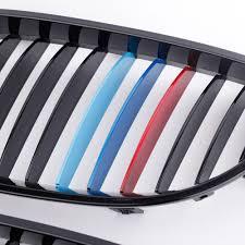2pcs gloss black m color front kidney grille for bmw e60 e61 5