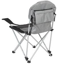 Recliner Chair With Speakers Deluxe Padded Reclining Camping Fishing Beach Chair With Portable