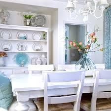 Aqua Dining Room by My Blue And White Dining Room Makeover Kristywicks Com
