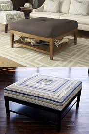 Wood Ottomans Coffee Table Modern Wood Coffee Table Reclaimed Metal Mid With
