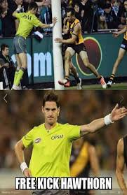 Footy Memes - free kick to hawthorn memes take over the internet afl sporting