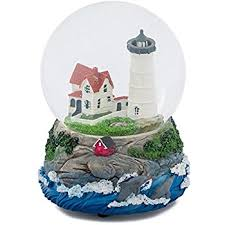 plays on cape cod amazon com cape cod lighthouse cottage 100mm music water globe