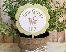 personalized flower pot 8 bridal shower favors flower plant favors personalized