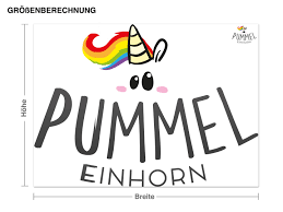wandtattoo pummeleinhorn logo geschenke geschenke für personen