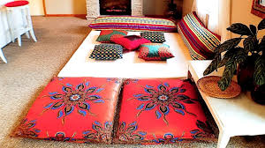 diy living room decor moroccan inspired lounge pad tour youtube