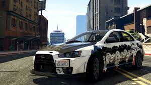 mitsubishi evo interior custom mitsubishi lancer evolution x fq 400 bone paint job gta v youtube