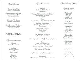 wedding program outline template program outline template