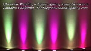 magenta u0026 yellow up lights demo orange county event lighting