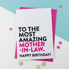 most amazing mother in law birthday card by a is for alphabet