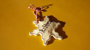 handmade christmas ornament salt dough star garland