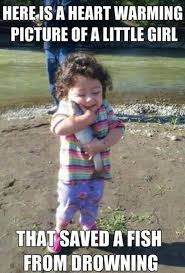 Little Girl Memes - little girl saved fish from drowning memes percentage calculator