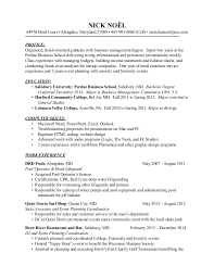Resume College Degree Nick Noel Resume Bus 1