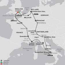 Calais France Map by Best Of Europe Tour Cosmos Affordable Travel