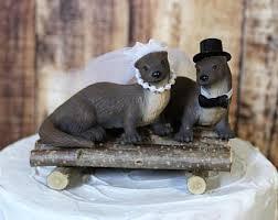 otter cake topper otter cake topper etsy