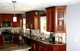 maple kitchen cabinets with granite countertop