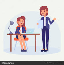 employé de bureau employé bureau avec patron dame commis bureau femme travaillant