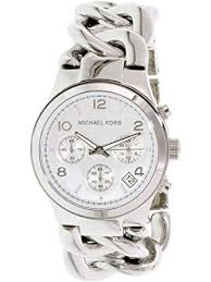 watches with chain bracelet images Michael kors mk3149 women 39 s runway chronograph twist jpg