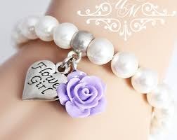 flower girl charm bracelet flower girl bracelet personalized wedding today you re